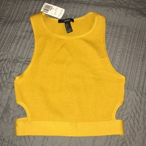 Brand New Forever 21 Mustard Crop top